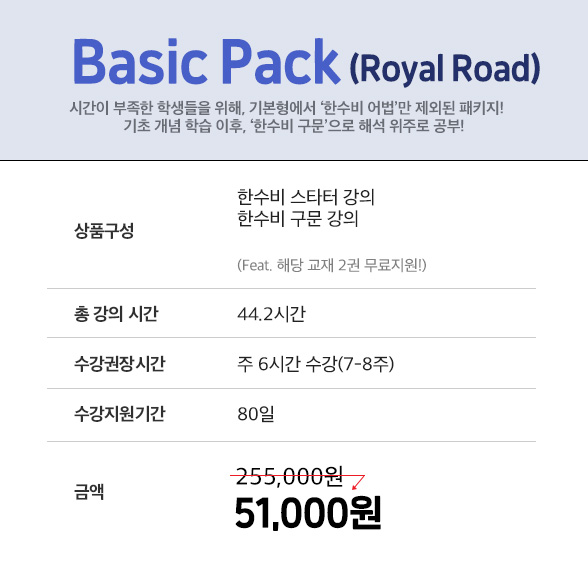 basic pack royal road