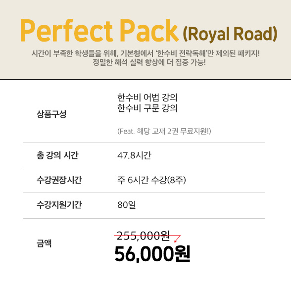 perfect pack royal road
